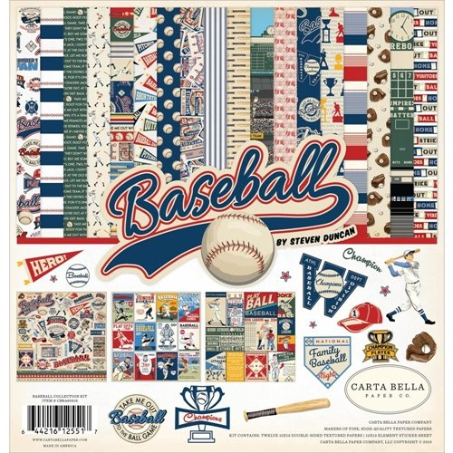 Carta Bella - Baseball - 12x12 Collection Kit