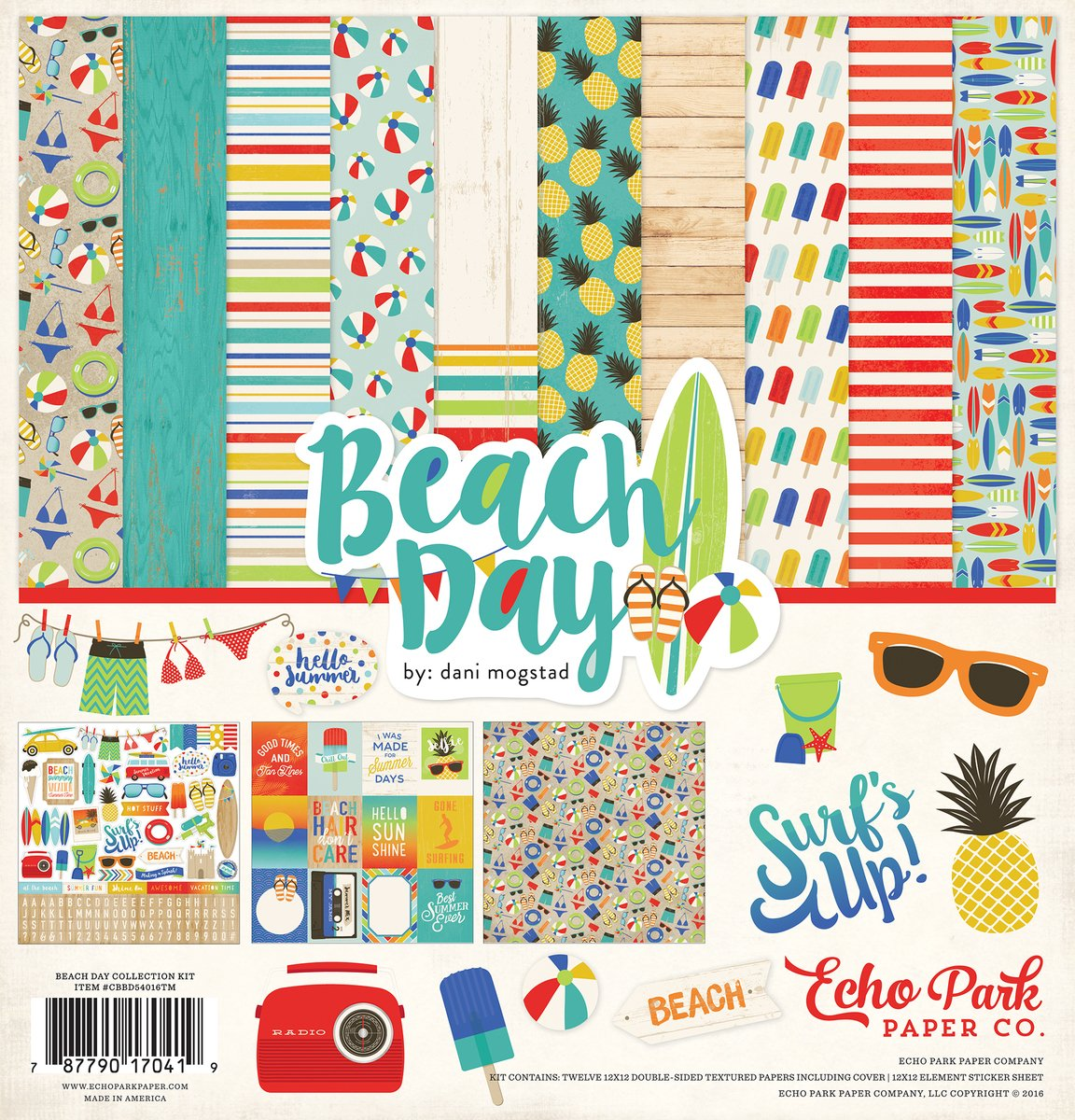 Echo Park Beach Day - 12x12 Collection Pack