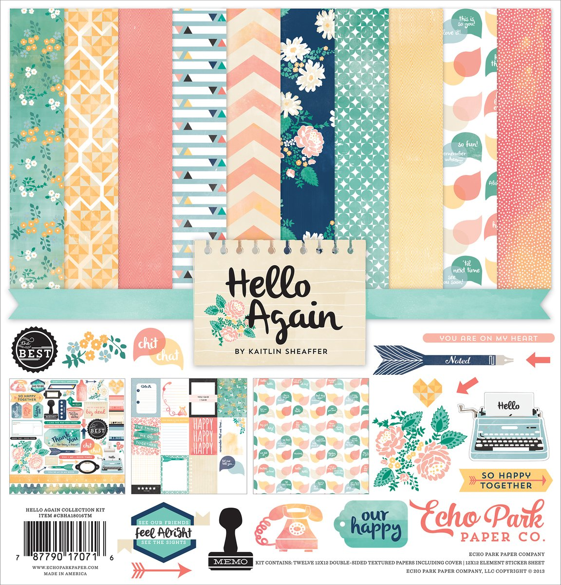 Echo Park Hello Again - 12x12 Collection Pack