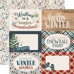 Carta Bella - Let It Snow - 4x6 Journaling Cards