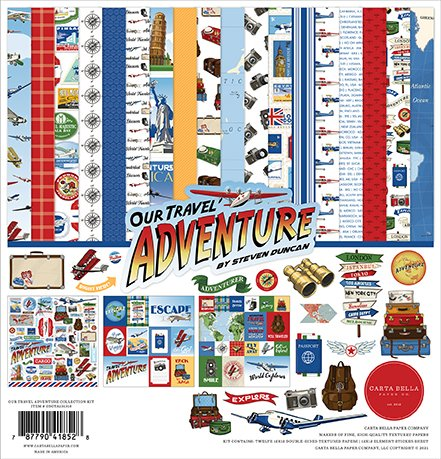 ^Carta Bella - Our Travel Adventure - 12x12 Collection Pack