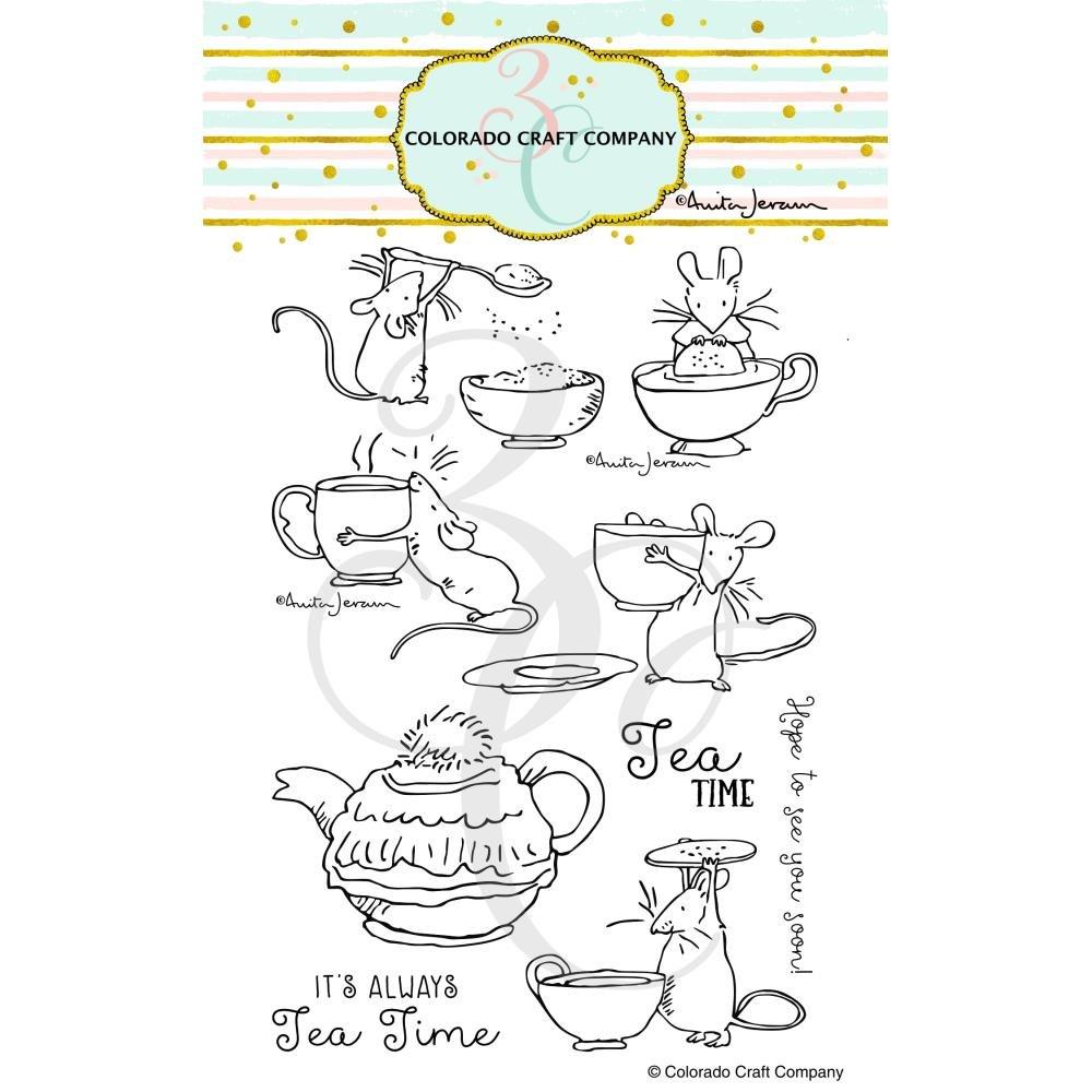 Colorado Craft - Clear Stamps - Tea Time Fun