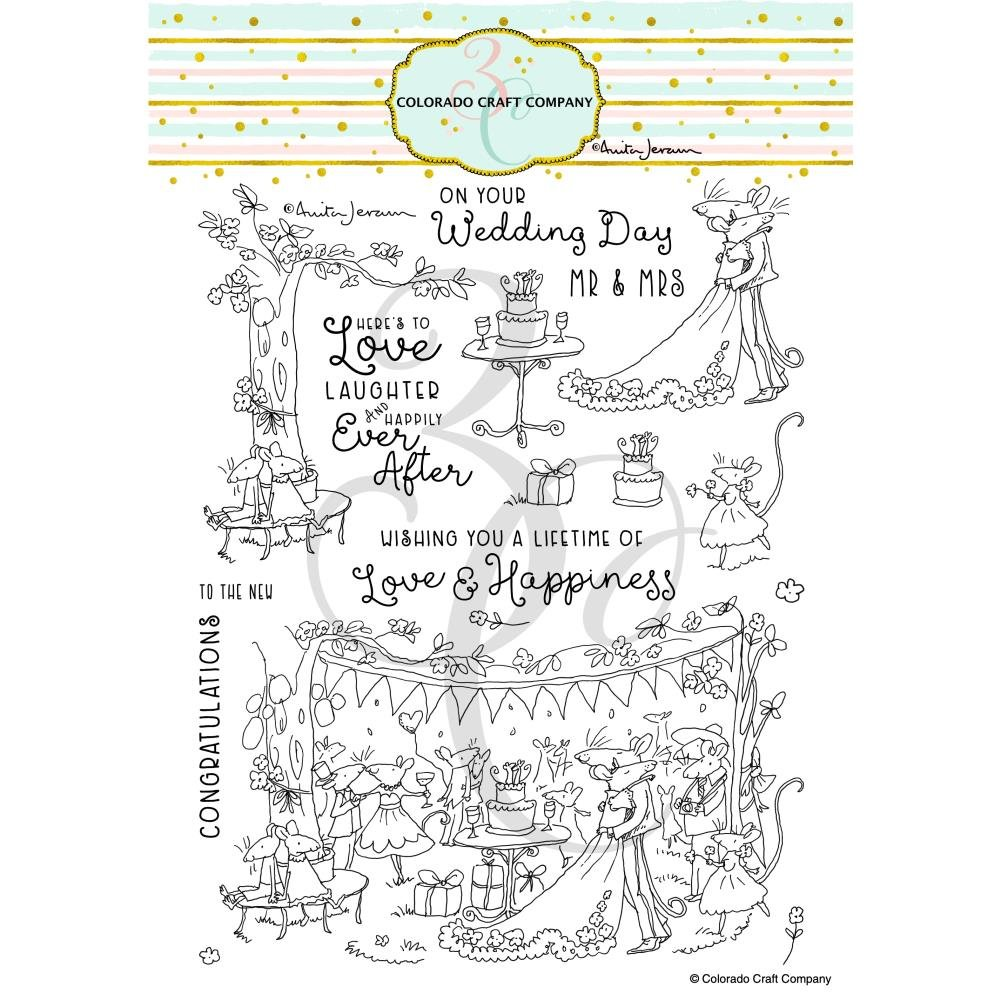 Colorado Craft - Clear Stamps - Happily Ever After