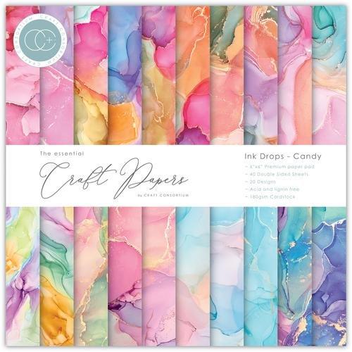 Craft Consortium - Ink Drops - Candy - 6x6 Paper Pad