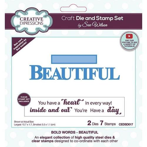 Creative Expressions - Die and Stamp Set - Beautiful