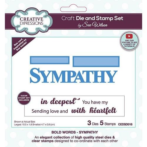 Creative Expressions - Die and Stamp Set - Sympathy
