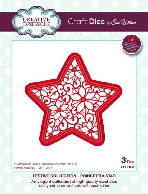 Creative Expressions Craft Dies - Festive Collection - Poinsettia Star