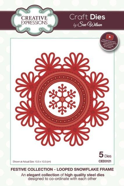 Creative Expressions Craft Dies - Looped Snowflake Frame