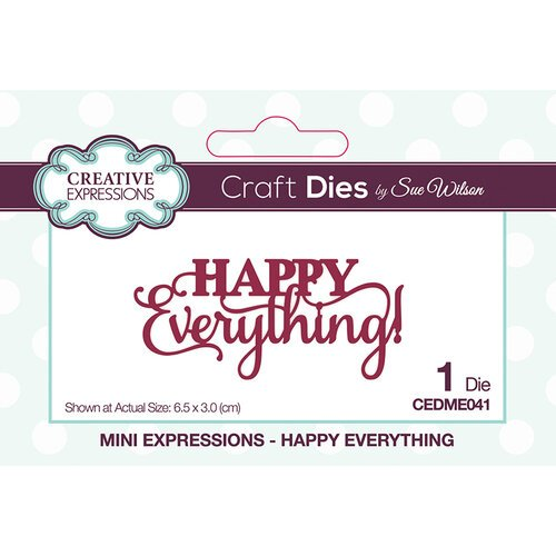 Creative Expressions Mini Expressions Dies - Happy Everything