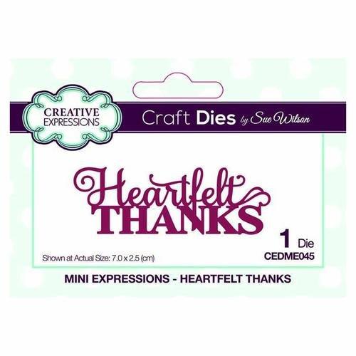 Creative Expressions Mini Expressions Dies - Heartfelt Thanks