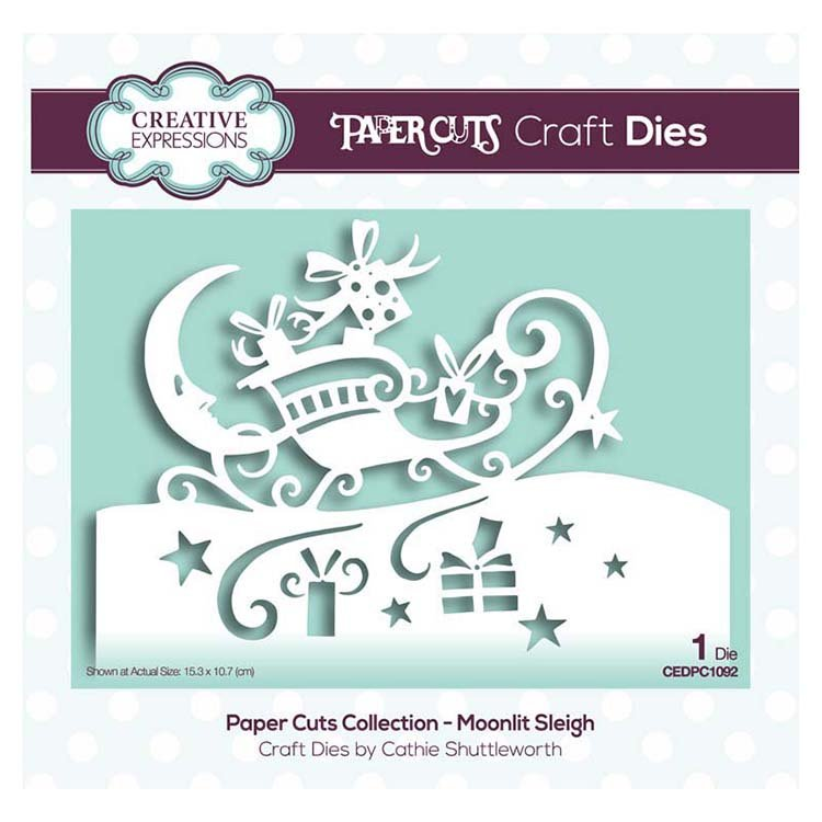 Creative Expressions Papercuts Craft Dies - Moonlit Sleigh
