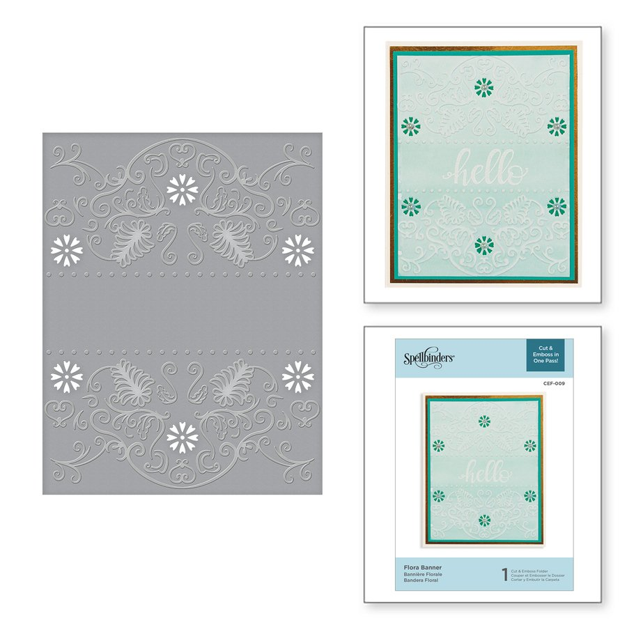 ^Spellbinders - Flora Banner Cut and Emboss Folder