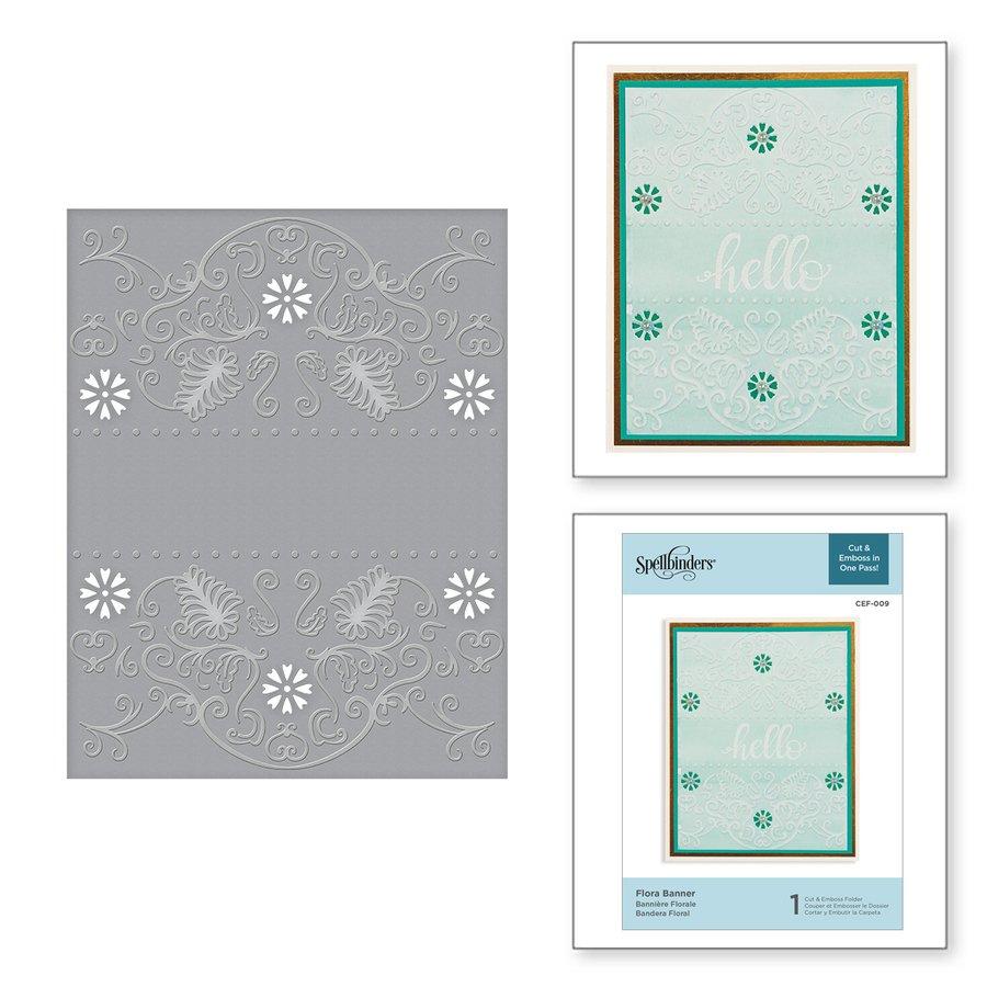 Spellbinders - Flora Banner Cut and Emboss Folder