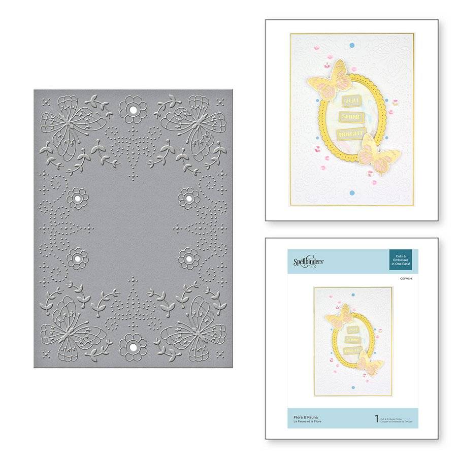 Spellbinders - Flora & Fauna Cut and Emboss Folder