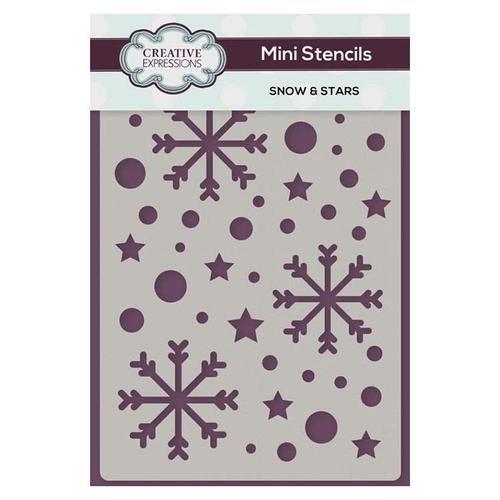 Creative Expressions Mini Stencil - Snow & Stars