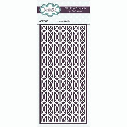 Creative Expressions - Slimline Stencil - Lattice Swirls