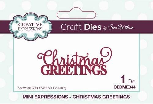 Creative Expressions Mini Expressions Die - Christmas Greetings
