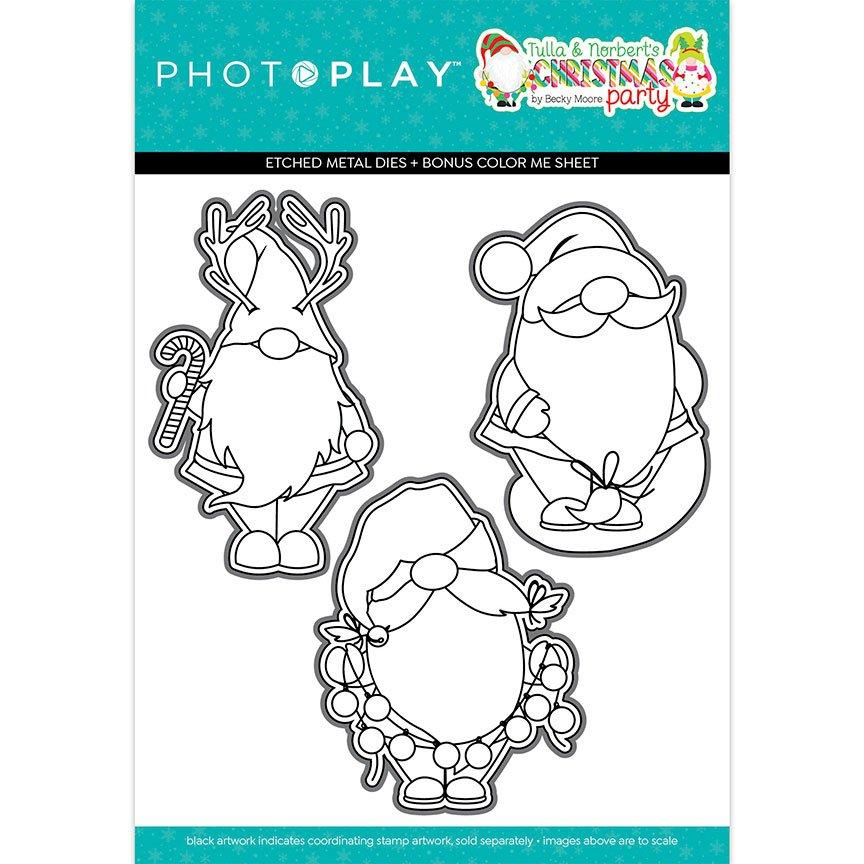 PhotoPlay - Tulla & Norbert's Christmas Party - Gnomies Coordinating Die Set