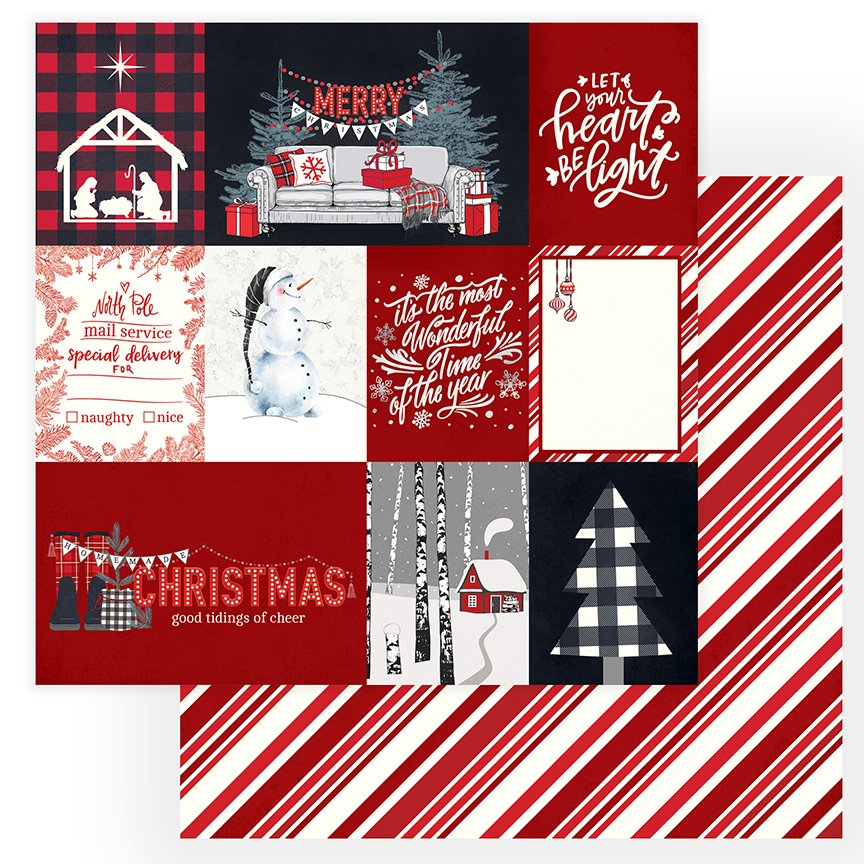 Christmas Cheer - 12x12 Double-Sided Paper - Let Your Heart Be Light (PhotoPlay)
