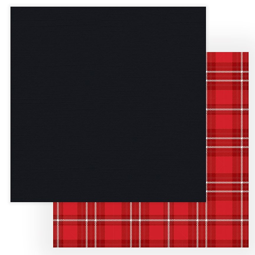 Christmas Cheer - 12x12 Solids Plus Double-Sided Paper - Black (PhotoPlay)