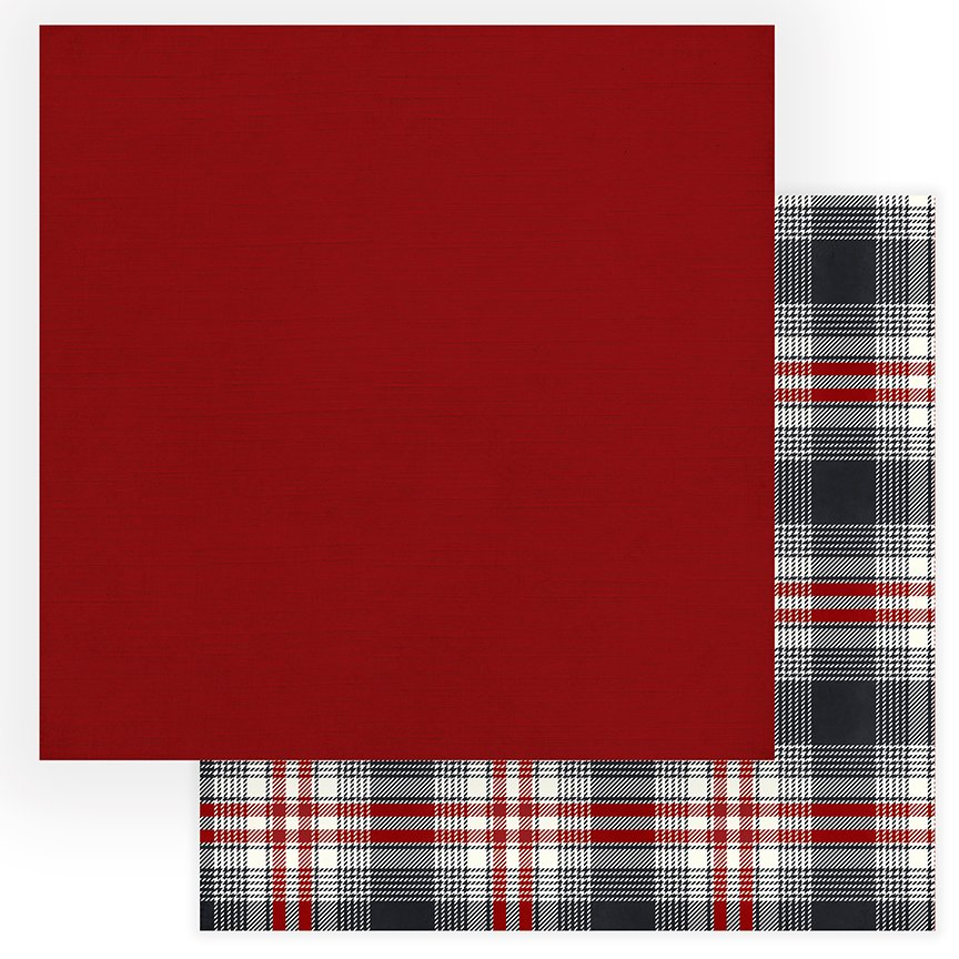 PhotoPlay Christmas Cheer - 12x12 Solids Plus Double-Sided Paper - Red