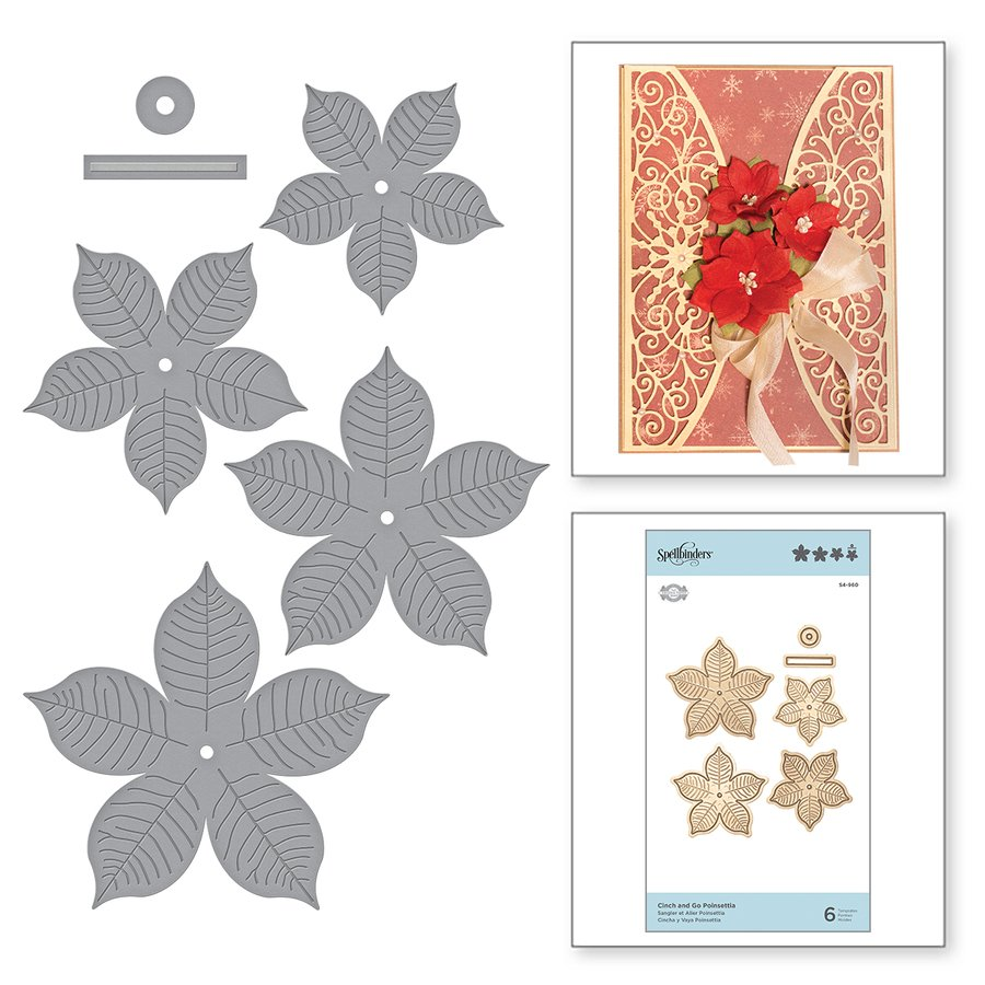 Spellbinders - Dies - Cinch and Go Poinsettia