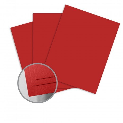ColorMates - Cardinal Red Smooth & Silky 12x12 Card Stock - 80 lb 10/Pk