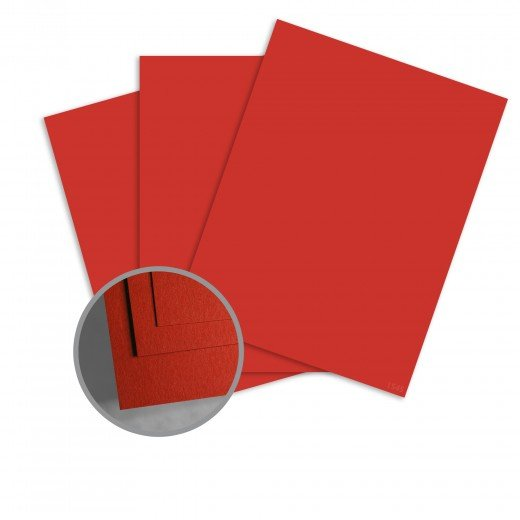 ColorMates - Red Apple Smooth & Silky 12x12 Card Stock - 80 lb 10/Pk