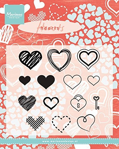 ^Marianne Design Hearts Stamp Set