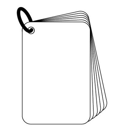 ^Clear Scraps - Mini Card Album, Acrylic