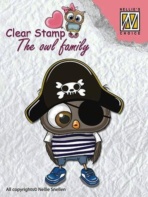 Nellie's Choice Clear Stamps - The Owl Family - Pirate