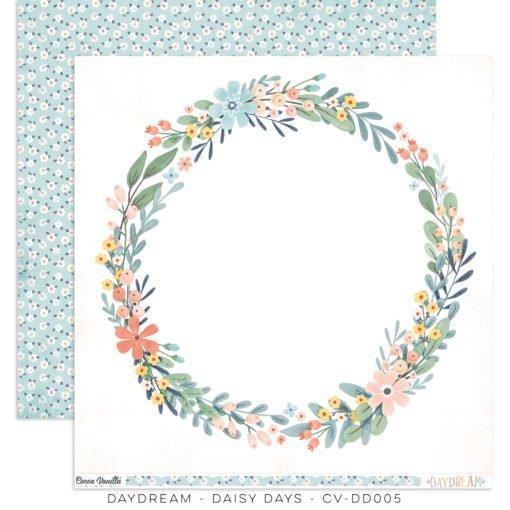 ^Cocoa Vanilla - DAYDREAM - Daisy Days - 12x12 Double-Sided Paper