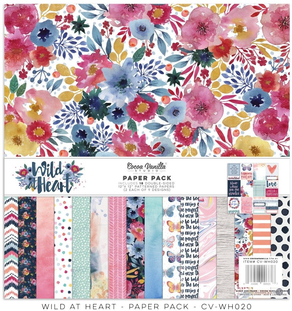 Cocoa Vanilla Wild at Heart - 12x12 Collection Pack