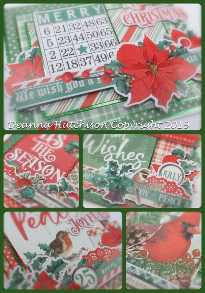 Country Christmas Card Kit, 5/pkg