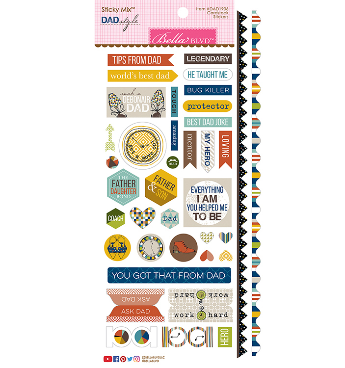 ^Bella Blvd - Dad Style - Cardstock Stickers