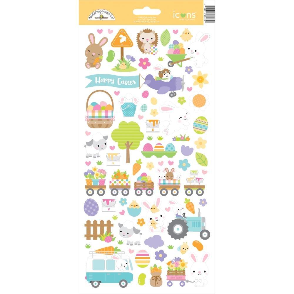 Doodlebug - Hippity Hoppity - Icons Stickers