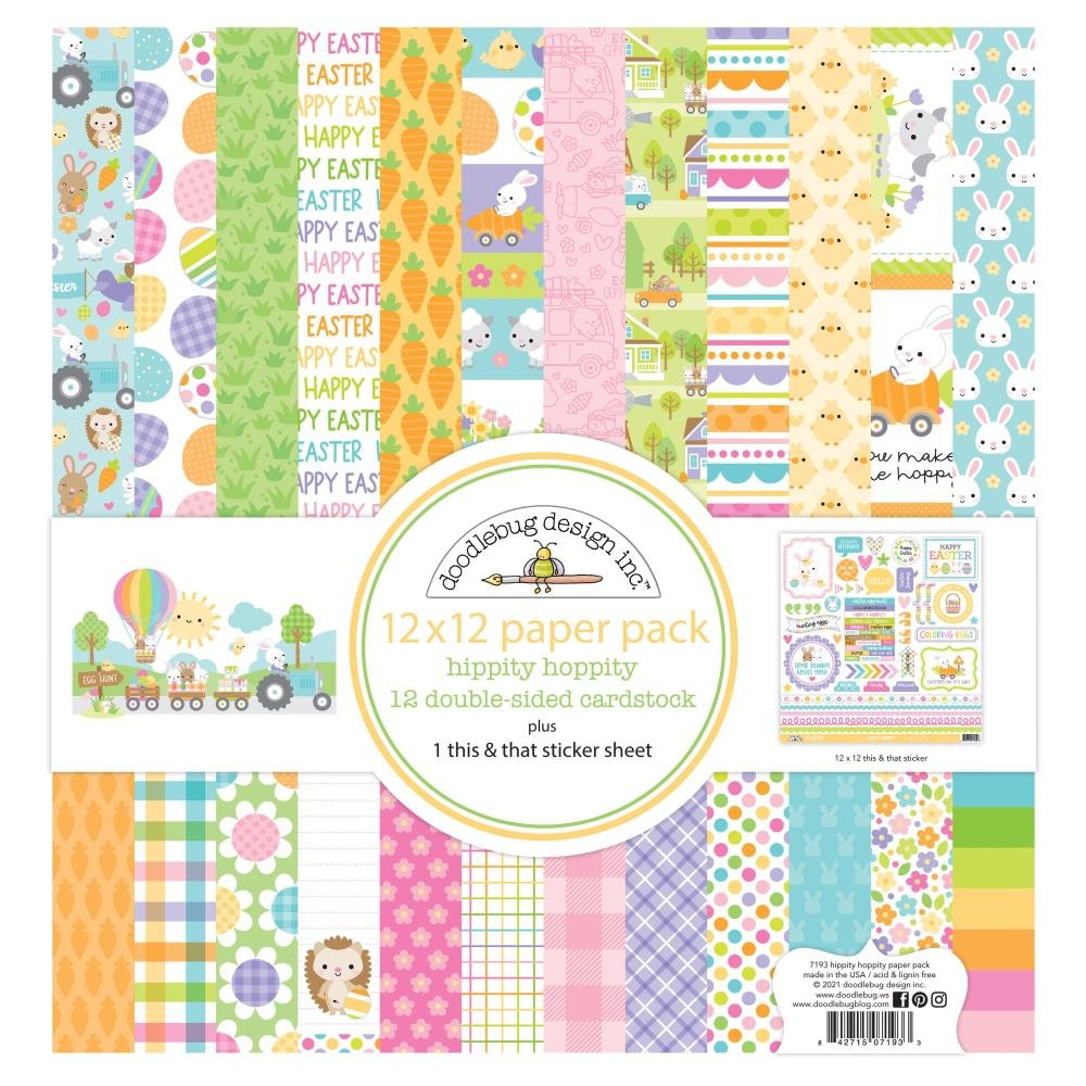 Doodlebug - Hippity Hoppity - 12x12 Collection Paper Pack