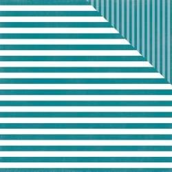 ^Echo Park Dots & Stripes - Coastal Crush Stripe - 12x12 Double-Sided Paper