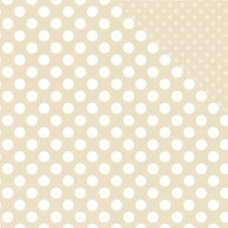 ^Echo Park Dots & Stripes - Pearl Dot - 12x12 Double-Sided Paper
