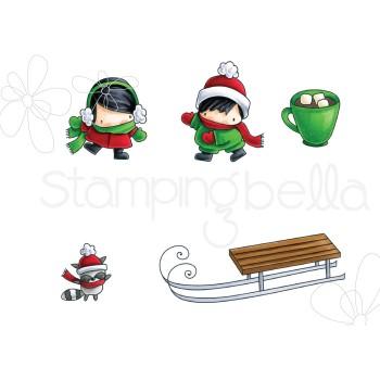 Stamping Bella - The Littles - Sledding Stamp Set