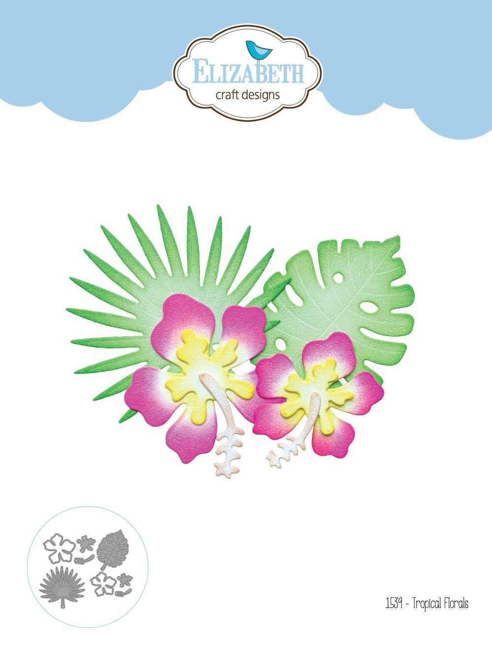 Elizabeth Craft Metal Die - Tropical Florals