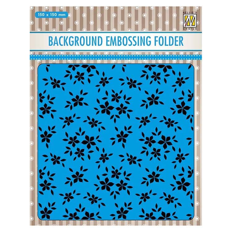 Nellie's Choice Background Embossing Folder - Small Flowers