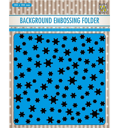 Nellie's Choice Background Embossing Folder - Snowflakes