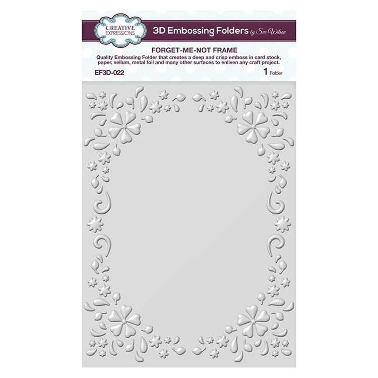 Creative Expressions 3D Embossing Folder - Forget-Me-Not Frame