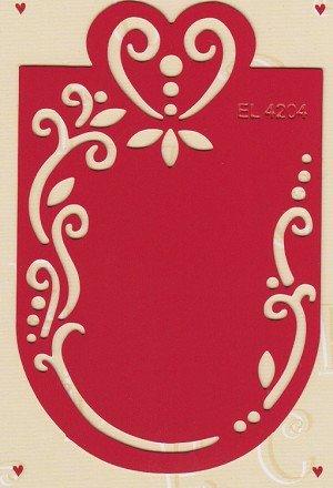 Labels Stencil - Heart (EL4204)