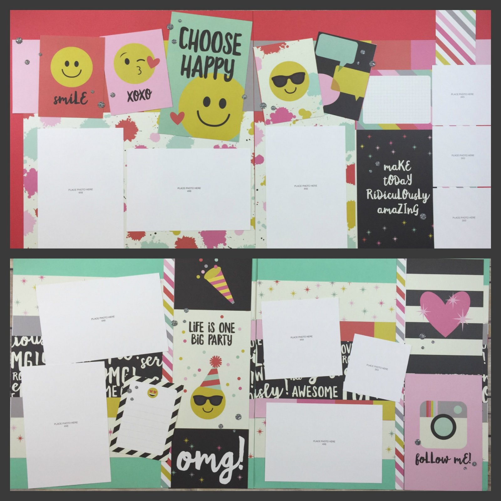 ^Creative Kit:  Emoji Love Layout Kit with Bonus Cards