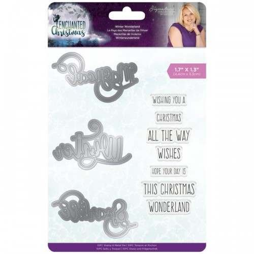 Crafter's Companion - Winter Wonderland - Enchanted Christmas Die and Stamp Set
