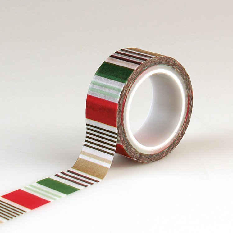 ^Echo Park Washi Tape - Holiday Stripe