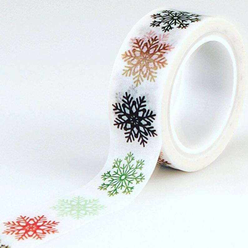 ^Echo Park Washi Tape - Multi Snowflakes