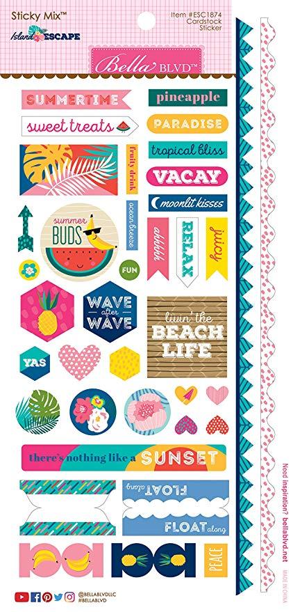 ^Bella Blvd Island Escape - Cardstock Stickers